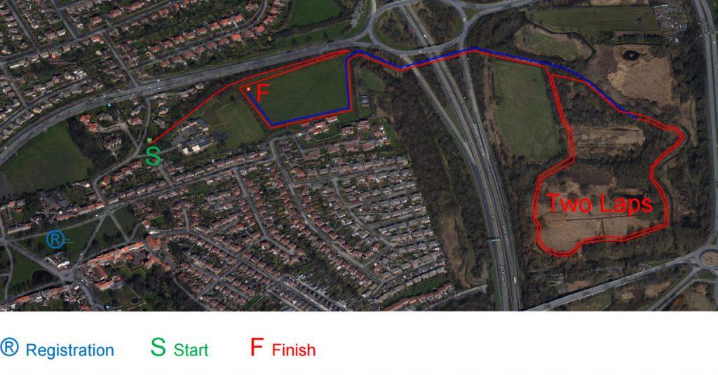 Trail run route map